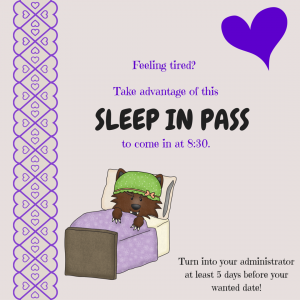 sleep in pass