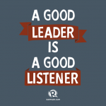 Be the leader who…