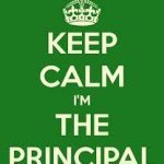 Calm the storm…you're the principal!